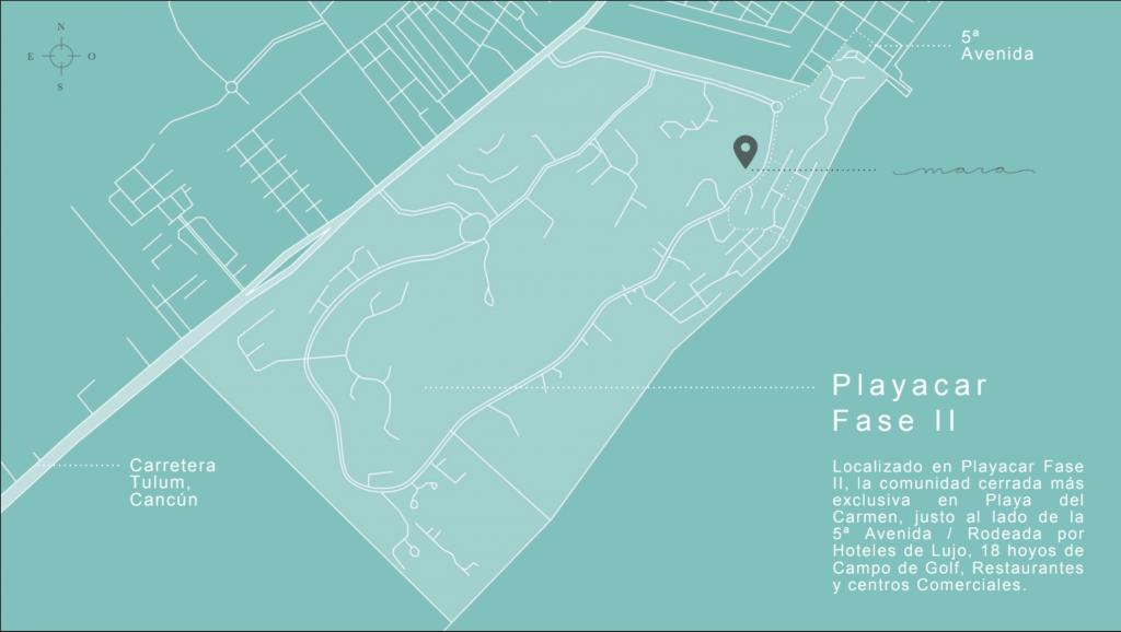 Mapa Ubicación Mara Residences Playa Car Fase II