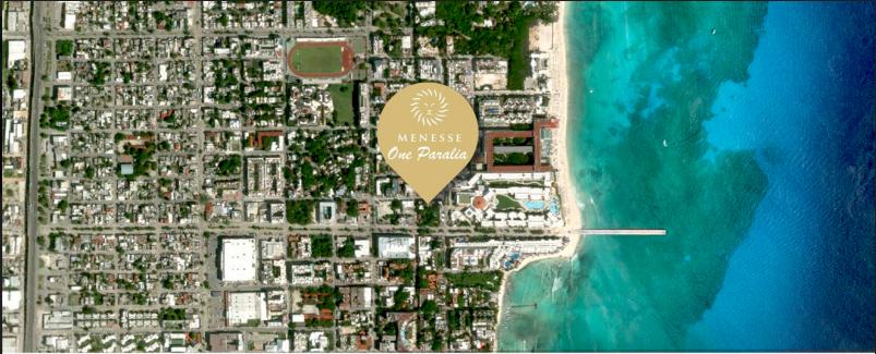 Menesse One Paralia Ubicacion playa del Carmen departamentos preventa