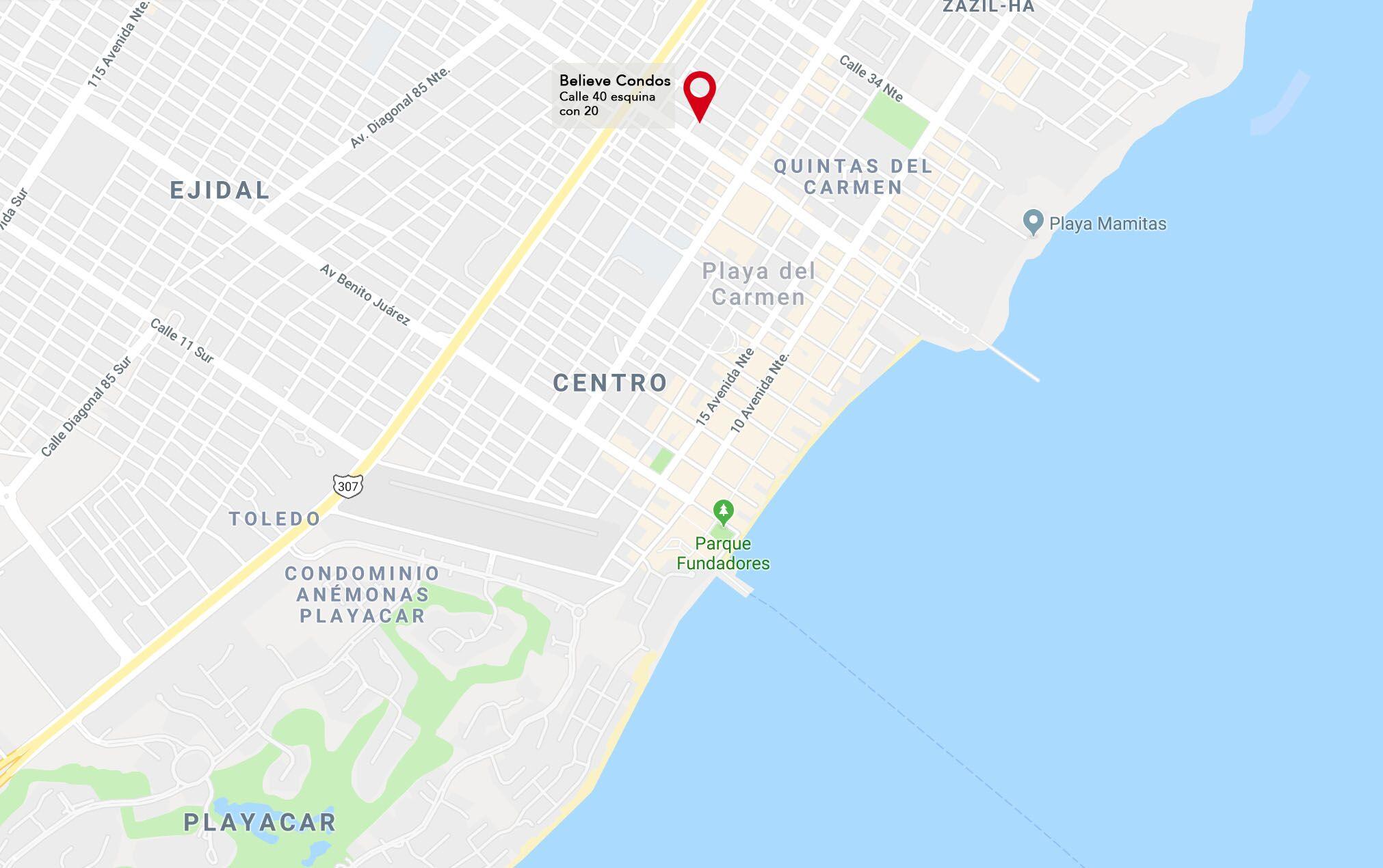 Believe Ubicacion Playa del carmen